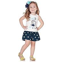 Pulla Bulla Toddler Girl Set Polka Dot Tank and Shorts 2pcs Outfit