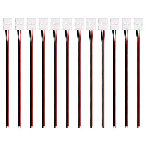 JACKYLED 12pcs Pack Strip Wire Solderles...