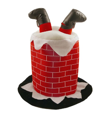 Father Christmas Fell Down the Chimney Adults Novelty - Tall English Hat