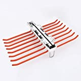 Pull Out Trousers Rack Pants Holder Hanger Rail Organizer Hangers for Wardrobe-18 Pairs