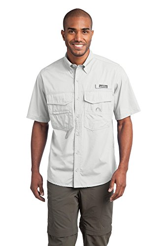 Eddie Bauer - Short Sleeve Fishing Shirt, White,