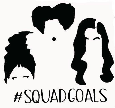 Hocus Pocus Squad Goals Black Decal Vinyl Sticker|Cars Trucks Vans Walls Laptop| Black |5.5 x 5 in|LLI682