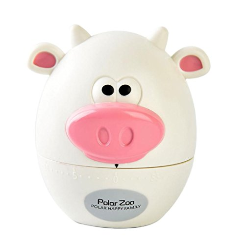 KingWo Pig timers for kitchen Timer mechanical Cute cooking timer Gadget Tool Fun Collectible For Pet alarm clock for kitchen stopwatch ()