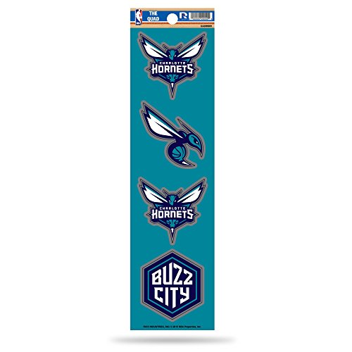 Rico NBA Charlotte Hornets Die Cut 4-Piece The Quad Sticker Sheet by Rico