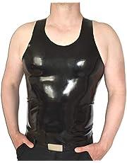 Heren Latexshirt met bandjes in verschillende kleuren, maat M-L