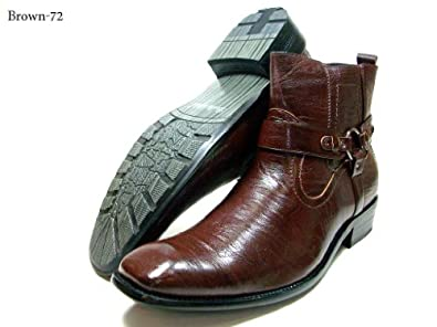 Amazon.com | Delli Aldo Men's 670-Brown Buckle Strap Ankle High ...