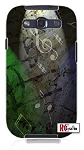 Hu Xiao Distressed Music Notes Musical Musician Unique Quality Hard Snap On KVpWWPCTPtr case cover for Samsung Galaxy S4 I9500 White case cover