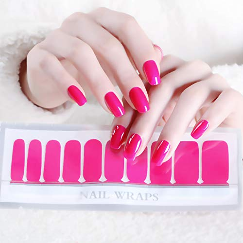 Color Lab 2019 Spring 22PCS ADHESION Nail Art Decals Sticker Orange and Pink Series DIY Nail Polish Strips, Nail Wraps,100% Real Nail polish applique for Manicure, Wedding, Party, A503 ()
