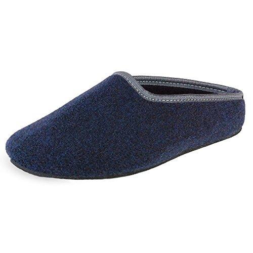 PantOUF bonitas zapatillas de casa Cambrai con un estilo fantástico sencillo y moderno. Increíblemente confortables. Las zapatillas son flexibles, ligeras, suaves, gris oscuro/amarillo Azul