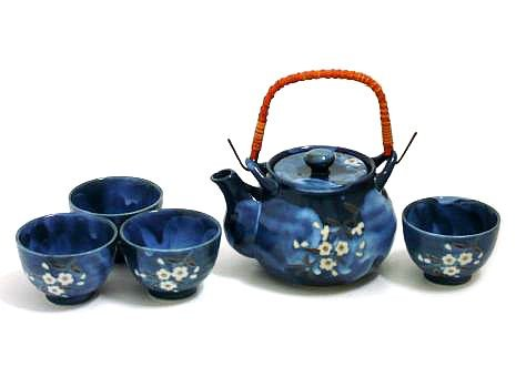 Amazon.com | MySushiSet - 5 piece Indigo Blue Japanese Tea Set Dinnerware Sets  sc 1 st  Amazon.com & Amazon.com | MySushiSet - 5 piece Indigo Blue Japanese Tea Set ...