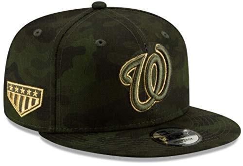 New Era MLB 2019 Armed Forces Day 9Fifty Adjustable Snapback Hat Cap: OSFM (Washington Nationals) (Washington Nationals Green Hat)
