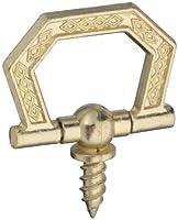 """National Hardware V2513 3/4"""" Screw Rings in Brass"""