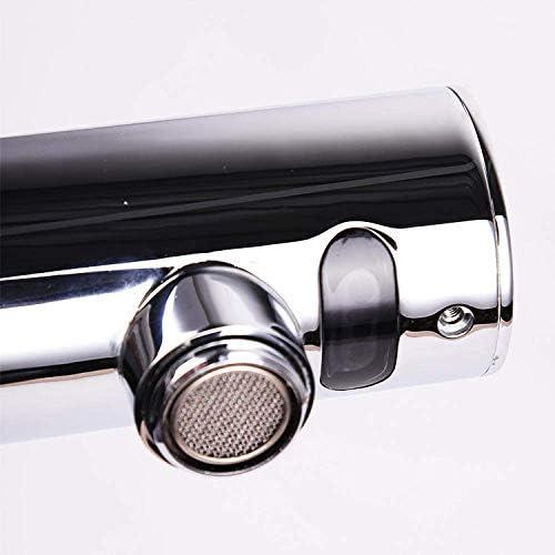 Gulakey バスルームのシンクは、スロット付き浴室の洗面台のシンクホットコールドタップミキサー流域の真鍮シンクミキサータップ全自動蛇口統合知的シングルコールド蛇口ウォールアウト赤外線センサーをタップ
