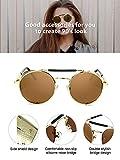 4 Pairs Steampunk Sunglasses Retro Gothic