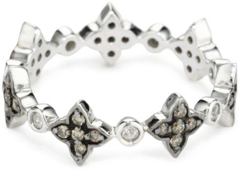 Katie Decker Deco Flower Brown Stack Ring, Size 8
