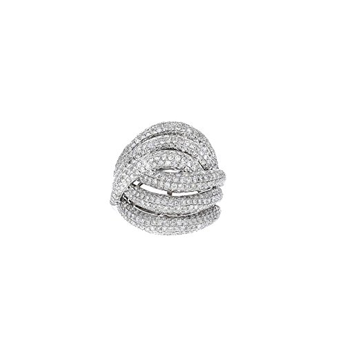 Women'[s 14k White Gold and Diamond Interlocking Ring (3.52cttw) 14k White Gold Diamond Interlocking