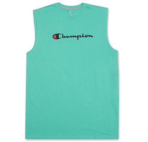 Shorts Size Champion Plus (Champion Mens Big and Tall Jersey Muscle Tee with Script Champion Logo Mint 3X-Large Big)