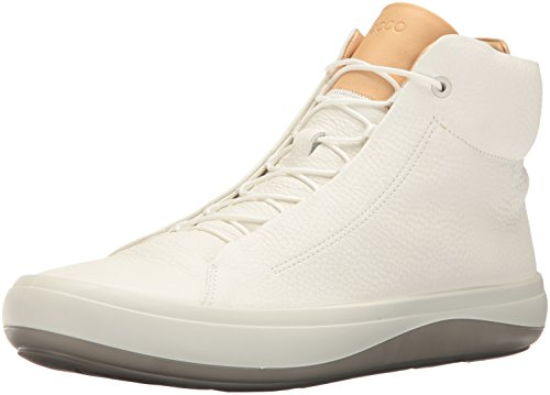 ECCO Men's Kinhin High Top Fashion Sneaker, White/Veg Tan, 45 EU/11-11.5 M US