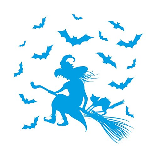 (lepni.me Wall Stickers Riding hag,Halloween Decoration (Light)