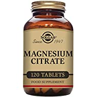 Solgar Magnesium Citrate, Highly Absorbable, Promotes Healthy Bones, Non-GMO, Suitable for Vegans, 120 Tablets