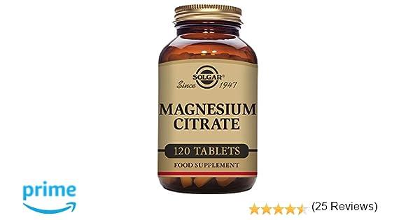 Solgar Citrato Magnesio - 120 Tabletas: Amazon.es: Salud y cuidado personal