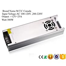 300W,25A,12V Power Supply Slim with Heat Sink at the sides to convert 110 Volt to 12V For Sale