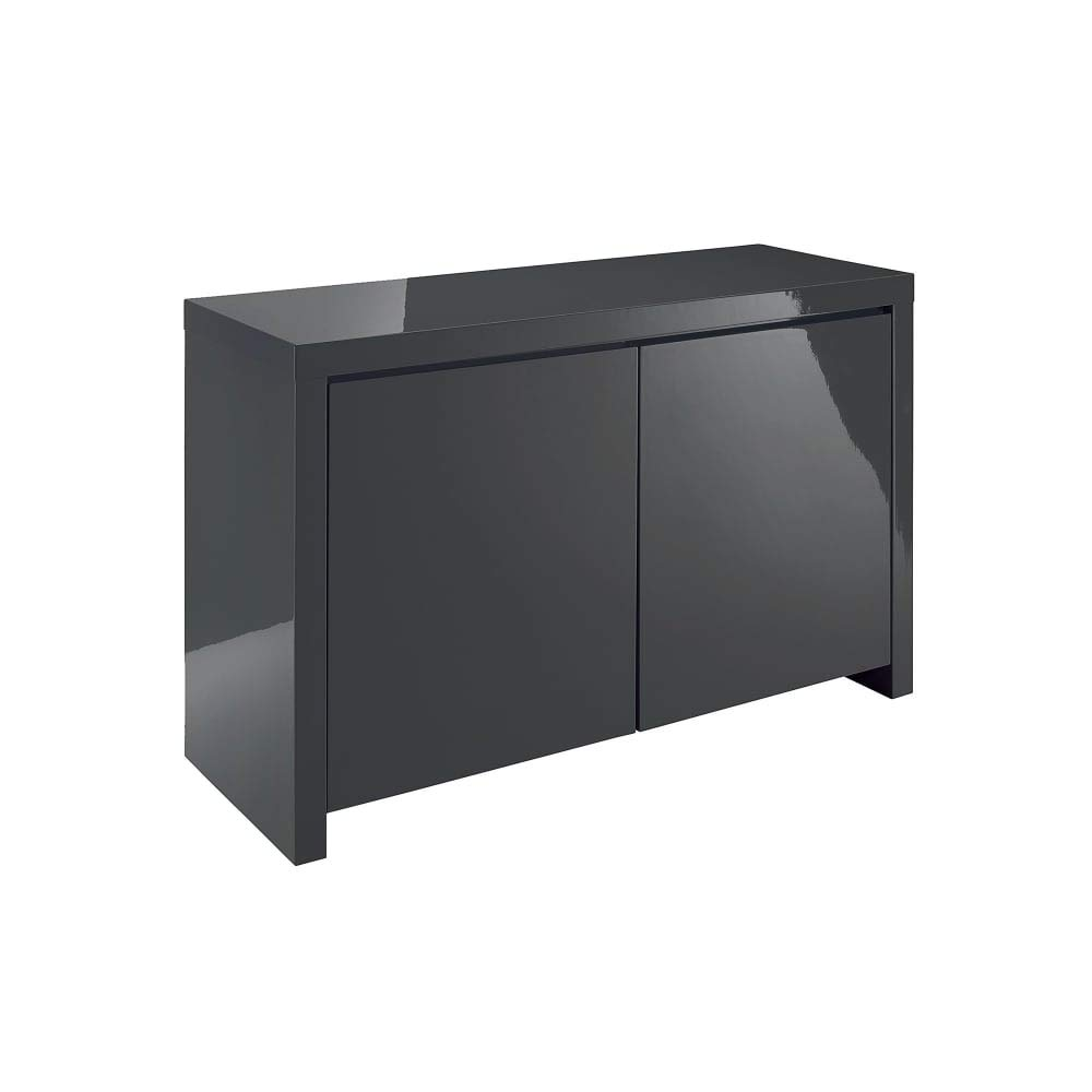 Xpress delivery puro sideboard in charcoal gloss amazon co uk kitchen home