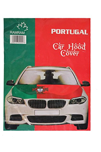 PORTUGAL Green - Red FPF Logo FIFA Soccer World Cup CAR HOOD COVER New by Unknown