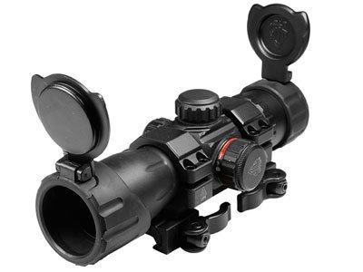 1x34mm ITA Combat Red/Green Dot Sight, 1/2 MOA, 30mm Tube, Quick-Detach Low Weaver/Picatinny Mount