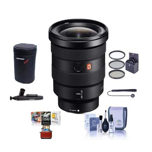Sony FE 16-35mm f/2.8 GM (G Master) E-Mount NEX Camera Lens - Bundle with 82mm Filter Kit, Lens Case, Cleaning Kit, Capleash II, Lenspen Lens Cleaner, Mac Software Package