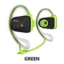Jabees Bsport Bluetooth Earphone Runner Headset Sports Earphones with Mic Wireless Headphones for Running and Lifetime Sweatproof Guarantee (Green)