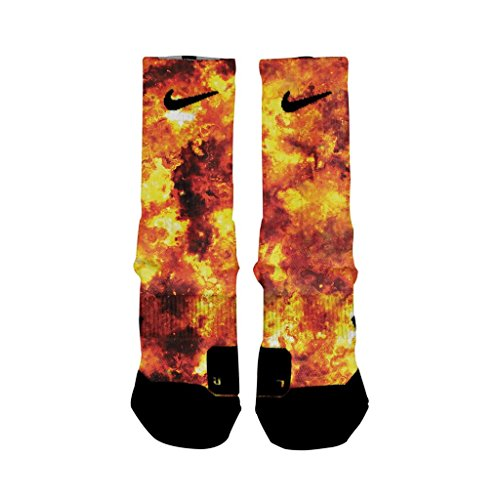 HoopSwagg Detonation Custom Elite Socks Large