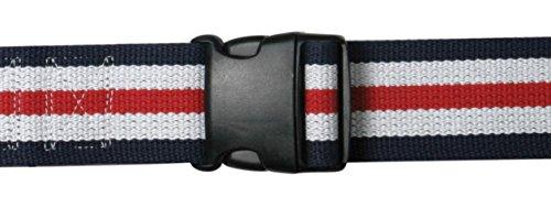 "AliMed Gait Belt - Patient Transfer Belt, Plastic Buckle, 70"", Red/White/Blue, 20/cs"