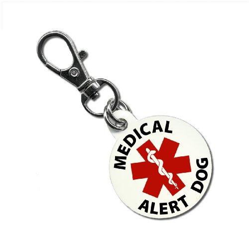 SERVICE DOG MEDICAL ALERT 1.25 inch Aluminum Dog Tag