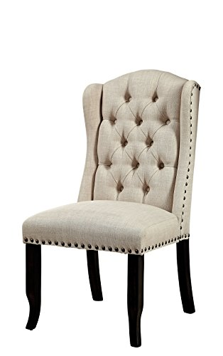 - HOMES: Inside + Out IDF-3324BK-SC Talias Chair (Set of 2), Antique Black