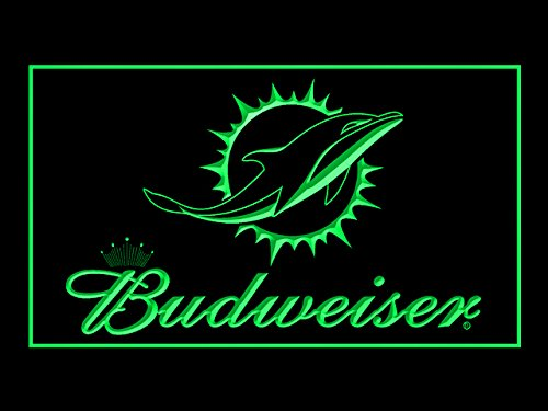 Budweiser Miami Dolphins Football Led Light Sign Miami Dolphins Neon Sign