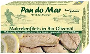 Pan do Mar Pan do Mar Mackerel Fillets in Organic Olive Oil, 120 g