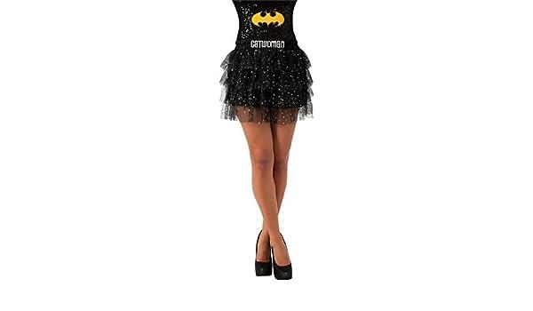 Catwoman Falda con lentejuelas Std Batman negro para mujer disfraz ...