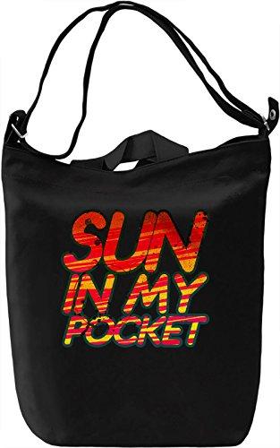 My Pocket Sun Borsa Giornaliera Canvas Canvas Day Bag| 100% Premium Cotton Canvas| DTG Printing|