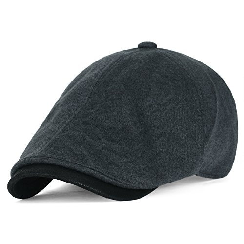 ililily Soft Cotton Jersey Large Size Newsboy Hat Vintage Hunting Flat Golf Cap, (Jersey Vintage Cap)