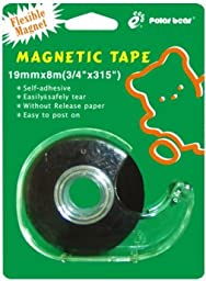 Polar Bear Black Magnetic Tape,3/4\