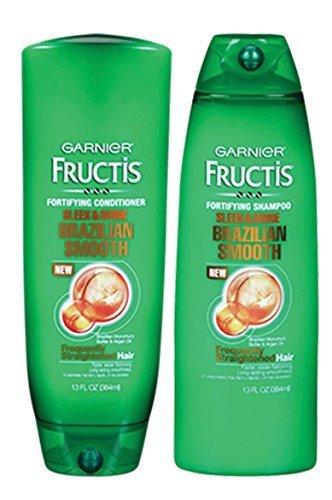 Garnier Shampoo And Conditioner (Garnier Fructis Brazilian Smooth Fortifying Shampoo & Conditioner (13 Oz)
