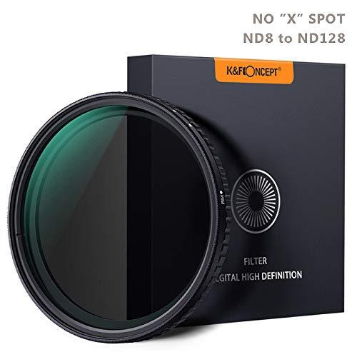 Filtro ND variable 67 mm Densidad neutra variable ajustable ND Fader de filtro ND8 ND16 ND32 ND64 to ND128 Filtro de lente MRC 18 capas NO Spot X