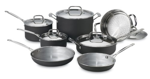 Multiclad Cookware Unlimited - Cuisinart MCU-12 MultiClad Unlimited Dishwasher Safe 12-Piece Cookware Set