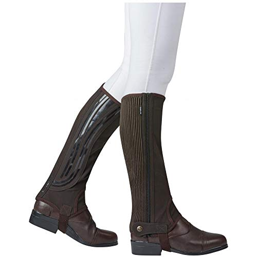 Dublin Mens Easy-Care Wave Grip Half Chaps (Adults Medium) (Brown) ()