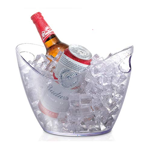 Ice Bucket 3.5 Liter Good for up to 2 Wine or Champagne Bottles Ice Bucket,Clear