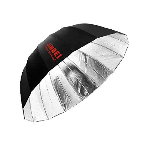 JINBEI アンブレラPro Deep Lサイズ【銀】(130cm) 直径130cm 銀色 B071DHSG7F