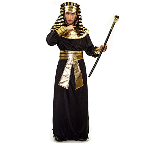 PGOND Men's Pharaoh Egyptian Fancy Costume Black