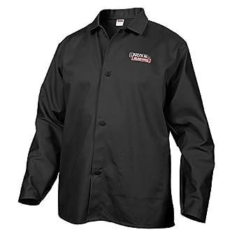 Lincoln eléctrica negro gamuza de resistente a las llamas Soldadura chaqueta: Amazon.es: Amazon.es
