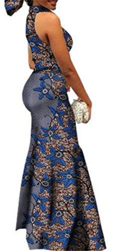 Dress 12 Sexy Mermaid Bodycon African Women's Cocktail Dashiki Domple Print 4TZ5z8ccqw